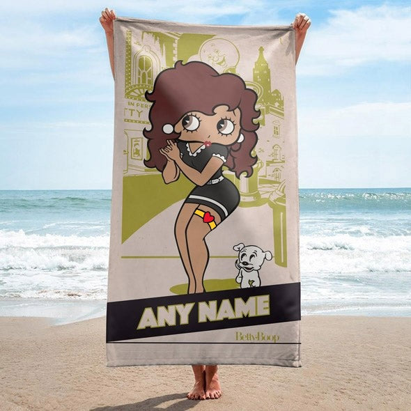Betty Boop Home Town Beach Towel - Image 1