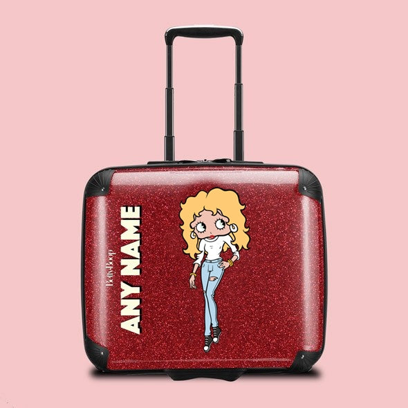 Betty Boop Red Glitter Effect Weekend Suitcase - Image 1