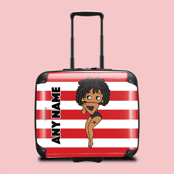 Betty Boop Candy Stripe Weekend Suitcase - Image 1
