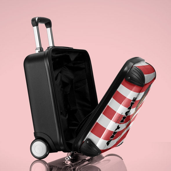 Betty Boop Candy Stripe Weekend Suitcase - Image 3