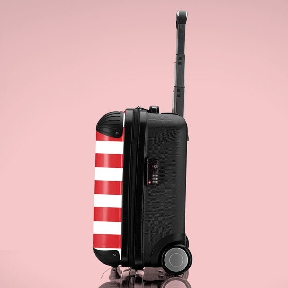 Betty Boop Candy Stripe Weekend Suitcase - Image 2