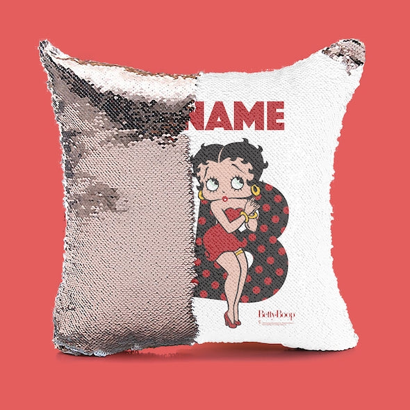 Betty Boop Iconic Friend Sequin Cushion - Image 4