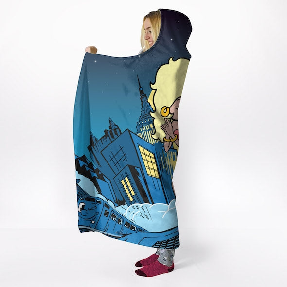 Betty Boop City Nights Hooded Blanket - Image 5