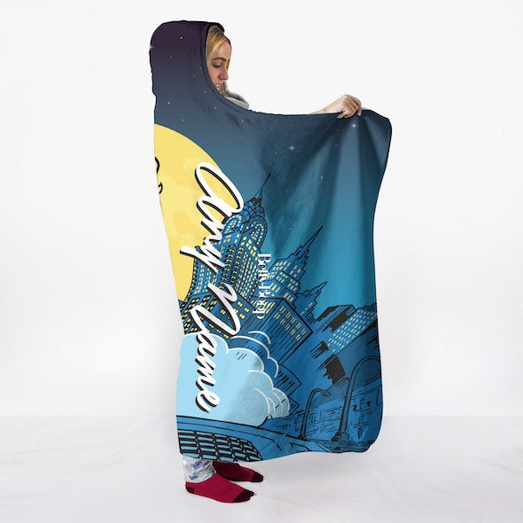 Betty Boop City Nights Hooded Blanket - Image 6