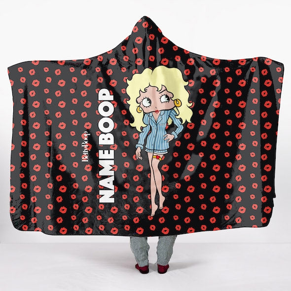 Betty Boop A Thousand Kisses Hooded Blanket - Image 2