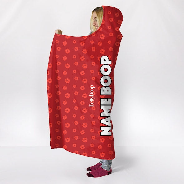 Betty Boop A Thousand Kisses Hooded Blanket - Image 6