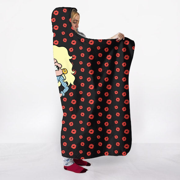 Betty Boop A Thousand Kisses Hooded Blanket - Image 4