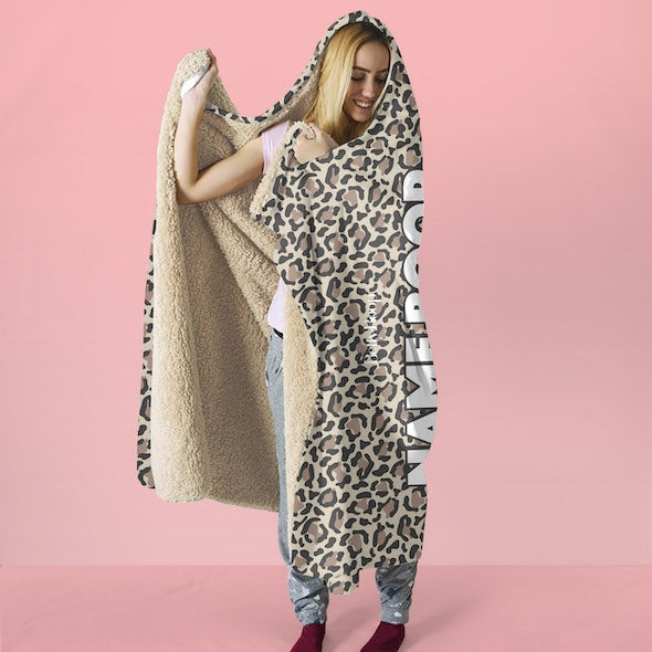 Betty Boop Leopard Print Hooded Blanket - Image 4