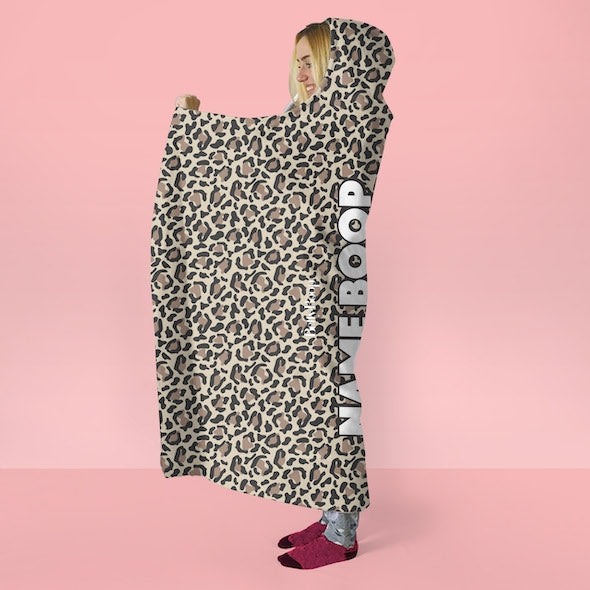 Betty Boop Leopard Print Hooded Blanket - Image 3