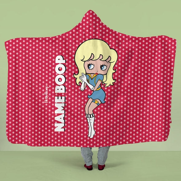 Betty Boop Polka Dot Hooded Blanket - Image 1