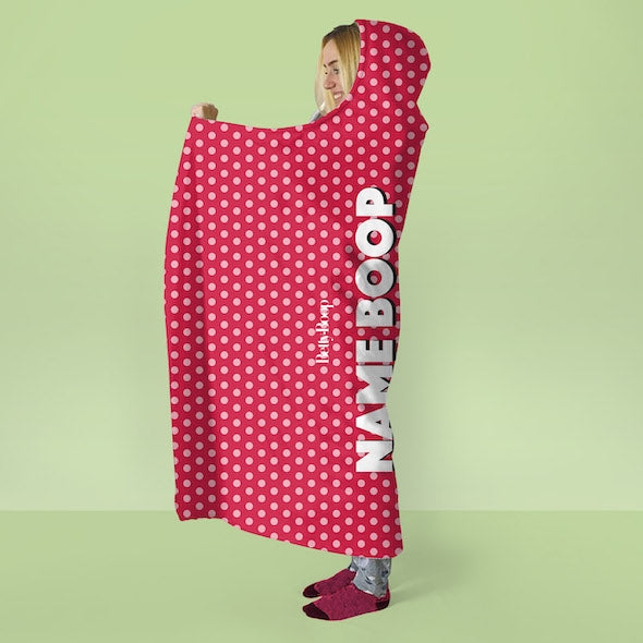 Betty Boop Polka Dot Hooded Blanket - Image 3