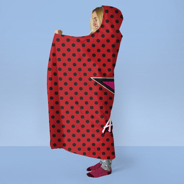 Betty Boop Polka Star Hooded Blanket - Image 3