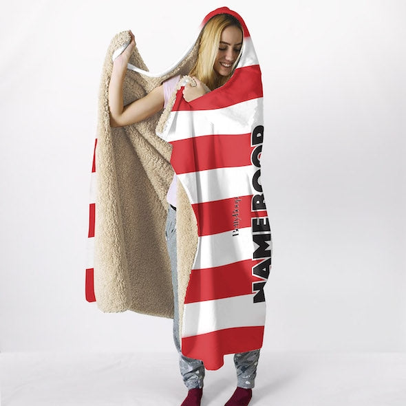 Betty Boop Candy Stripe Hooded Blanket - Image 2