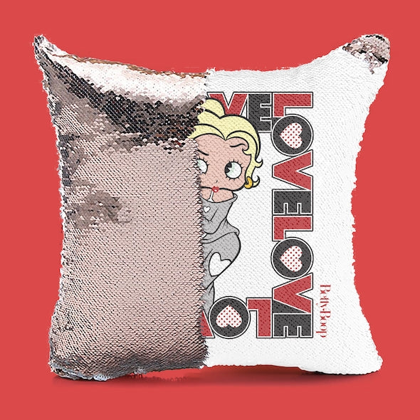 Betty Boop Love Sequin Cushion - Image 3