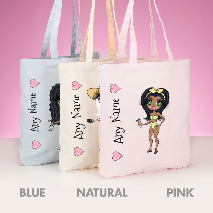 ClaireaBella Bikini Pastel Canvas Shopper