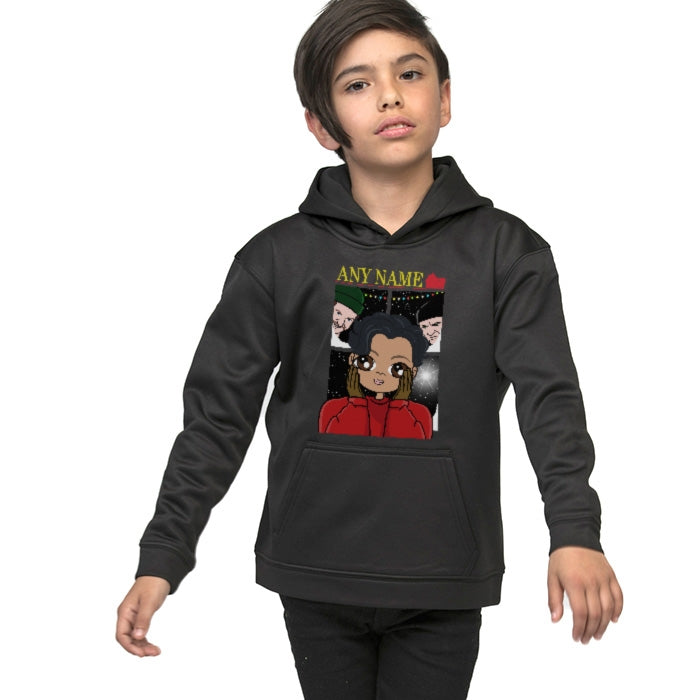 Jnr Boys Alone At Home Hoodie - Image 3