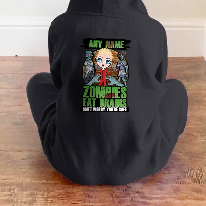 Jnr Boys Zombies Eat Brains Onesie