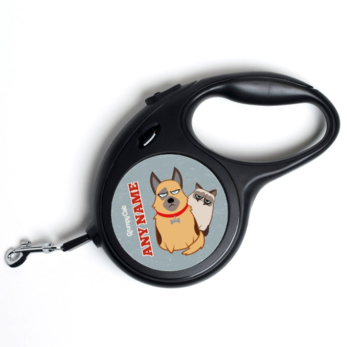 Grumpy Cat Charcoal Dog Lead - Image 1
