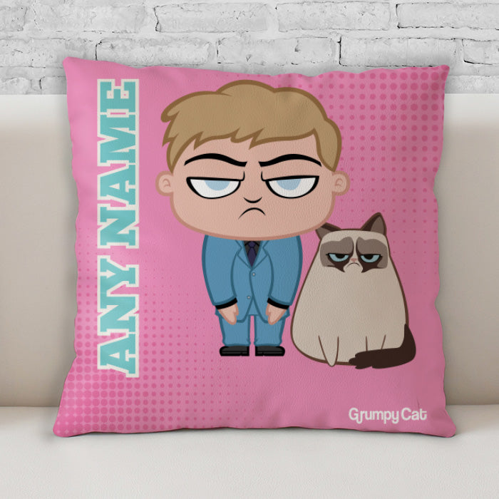 Grumpy Cat Pink Cushion