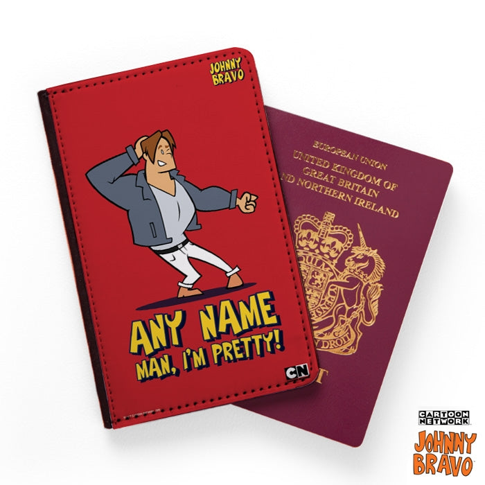 Johnny Bravo Guys Bold Red Passport Cover - Image 1