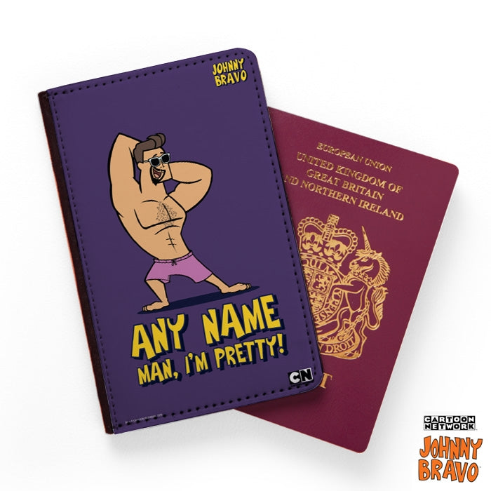 Johnny Bravo Guys Bold Purple Passport Cover - Image 1