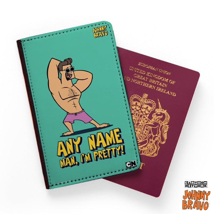 Johnny Bravo Guys Bold Mint Passport Cover - Image 1