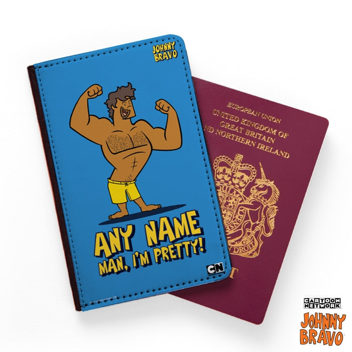 Johnny Bravo Guys Bold Blue Passport Cover - Image 1