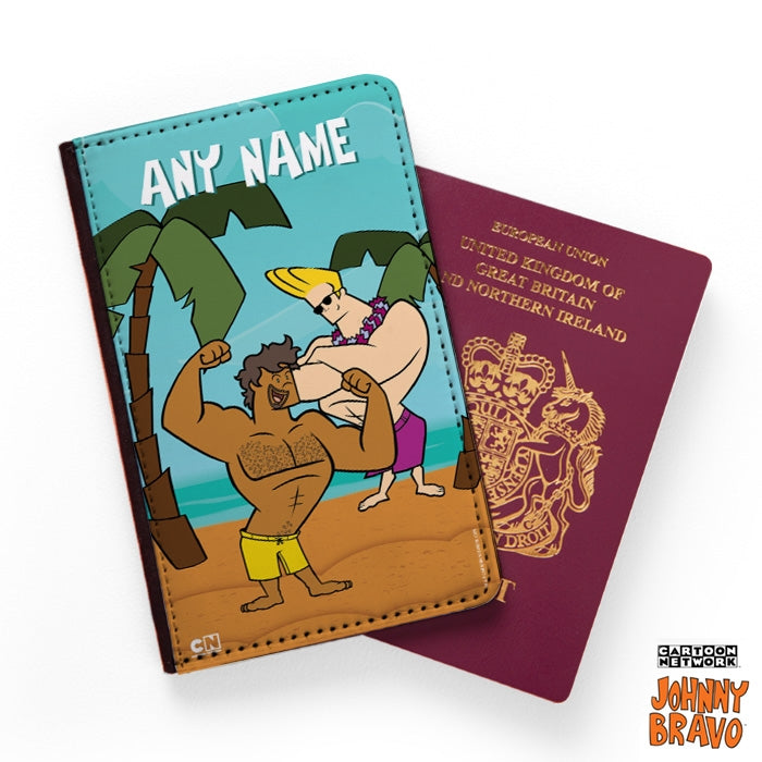 Johnny Bravo Guys Palm Island Passport Cover - Image 1