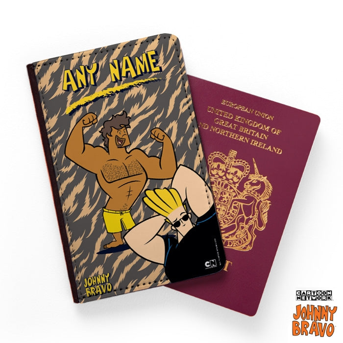 Johnny Bravo Guys Animal Print Passport Cover - Image 1