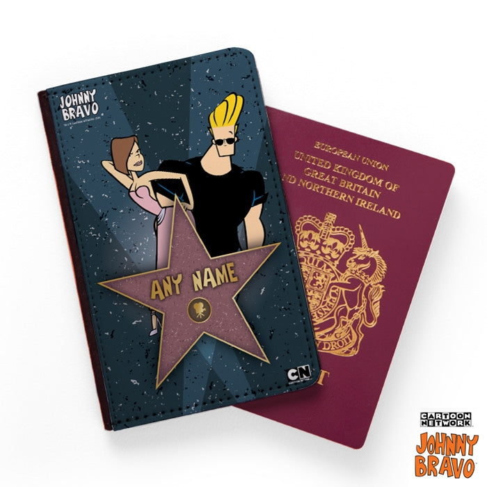 Johnny Bravo Ladies Walk Of Fame Passport Cover - Image 1