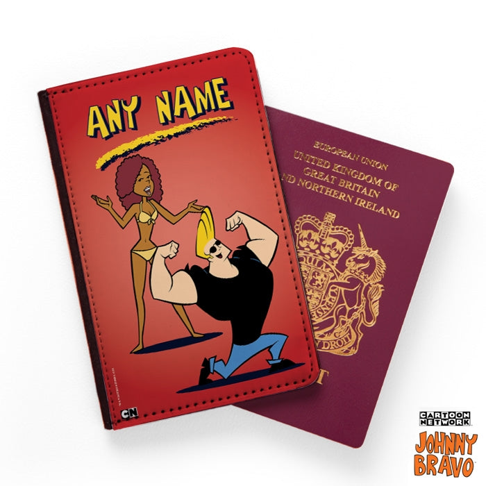Johnny Bravo Ladies Red Passport Cover - Image 1