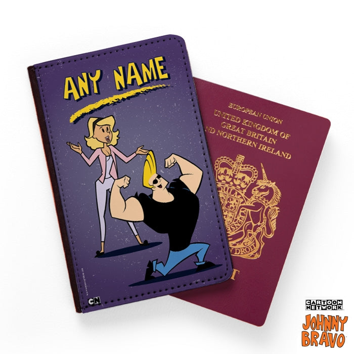 Johnny Bravo Ladies Distressed Purple Passport Cover - Image 1