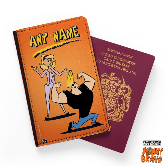 Johnny Bravo Ladies Distressed Orange Passport Cover - Image 1