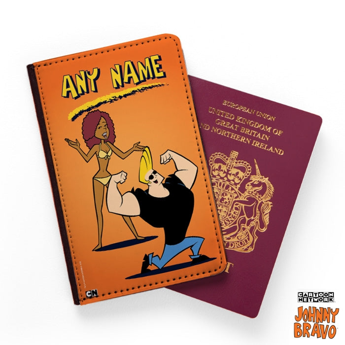 Johnny Bravo Ladies Orange Passport Cover - Image 1