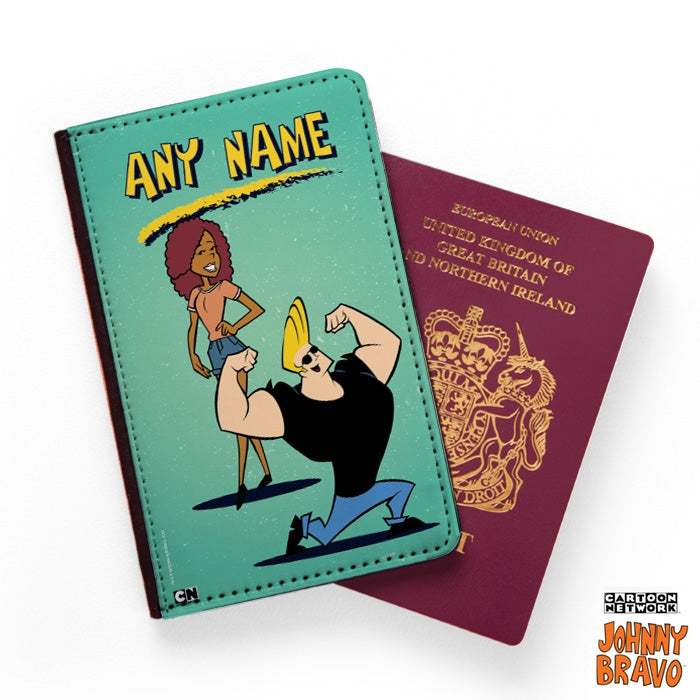 Johnny Bravo Ladies Distressed Mint Passport Cover - Image 1