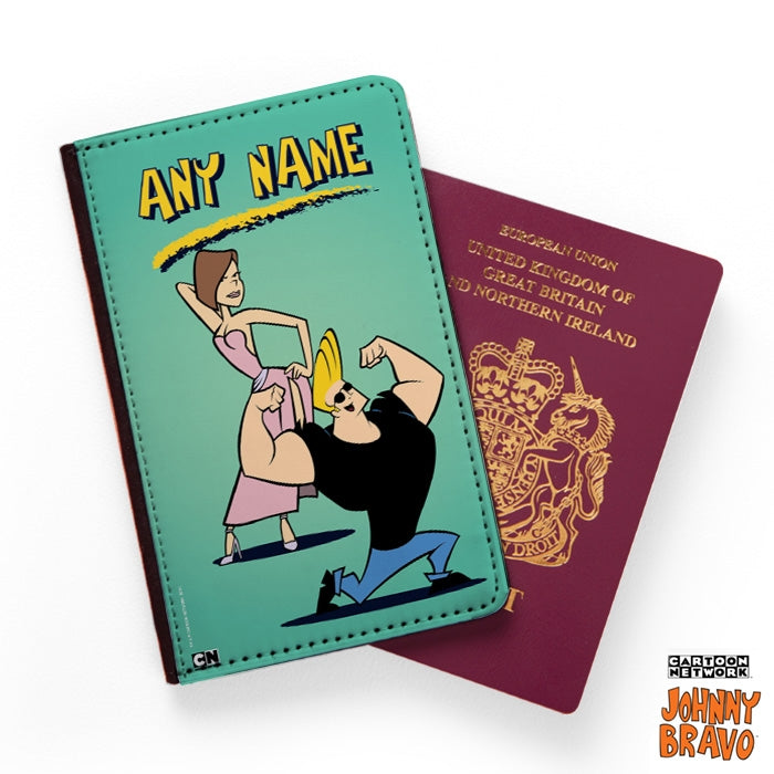 Johnny Bravo Ladies Mint Passport Cover - Image 1