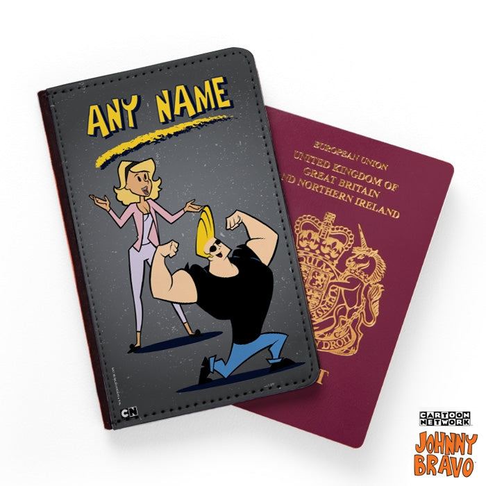 Johnny Bravo Ladies Distressed Grey Passport Cover - Image 1