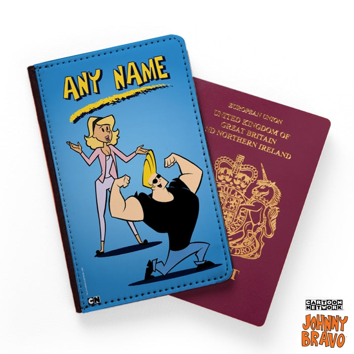 Johnny Bravo Ladies Blue Passport Cover - Image 1