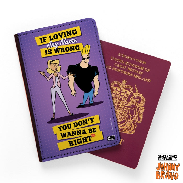 Johnny Bravo Ladies Loving Me Passport Cover - Image 1