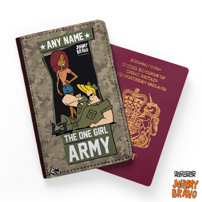 Johnny Bravo Ladies Army Passport Cover - Image 1