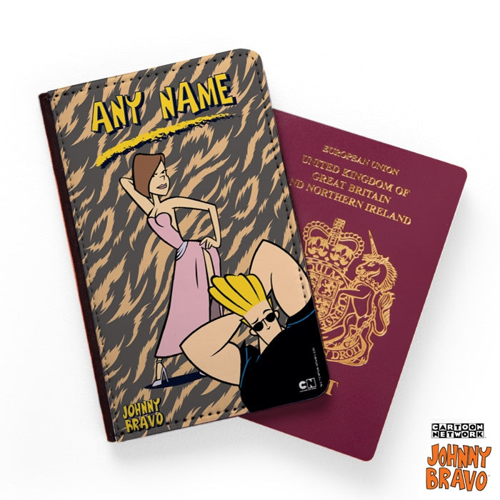 Johnny Bravo Ladies Animal Print Passport Cover - Image 1