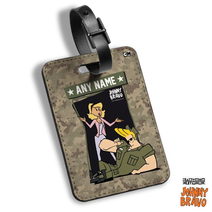 Johnny Bravo Ladies Army Luggage Tag - Image 1