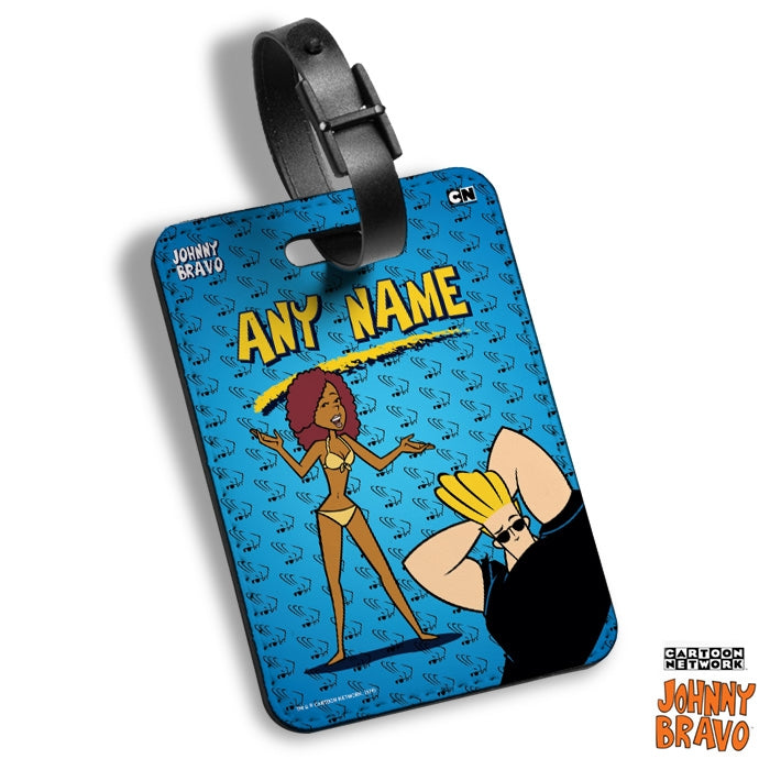 Johnny Bravo Ladies Bravo Brains Luggage Tag - Image 1