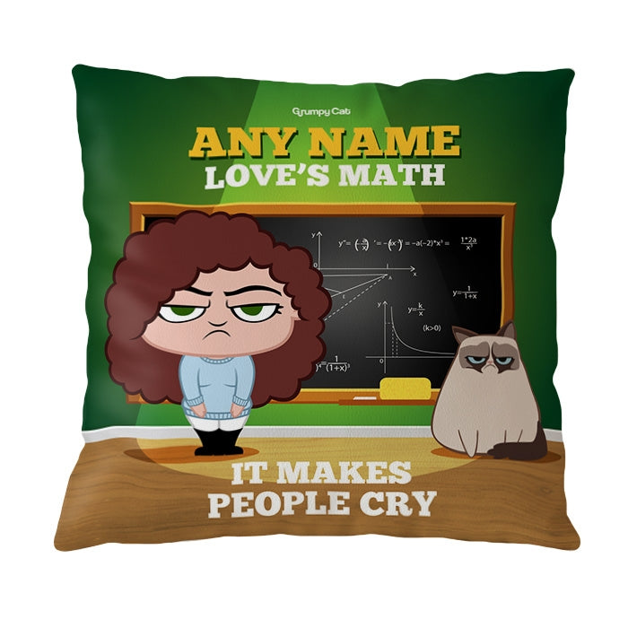 Grumpy Cat Love's Maths Cushion - Image 3