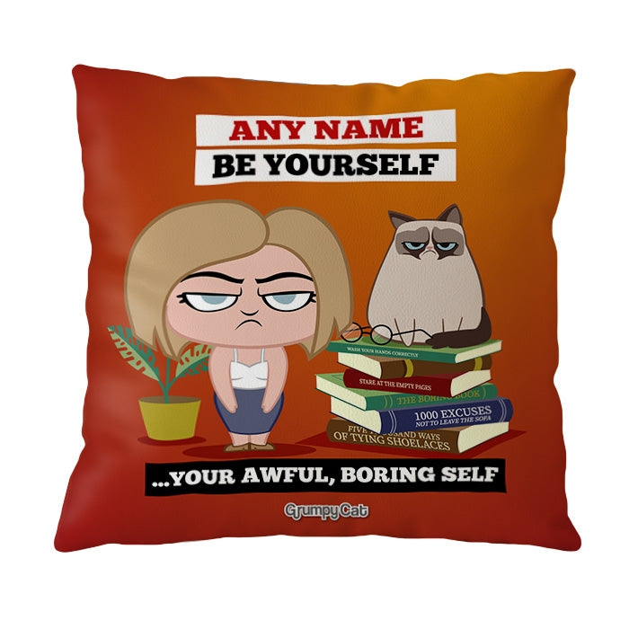 Grumpy Cat Be Yourself Cushion - Image 3