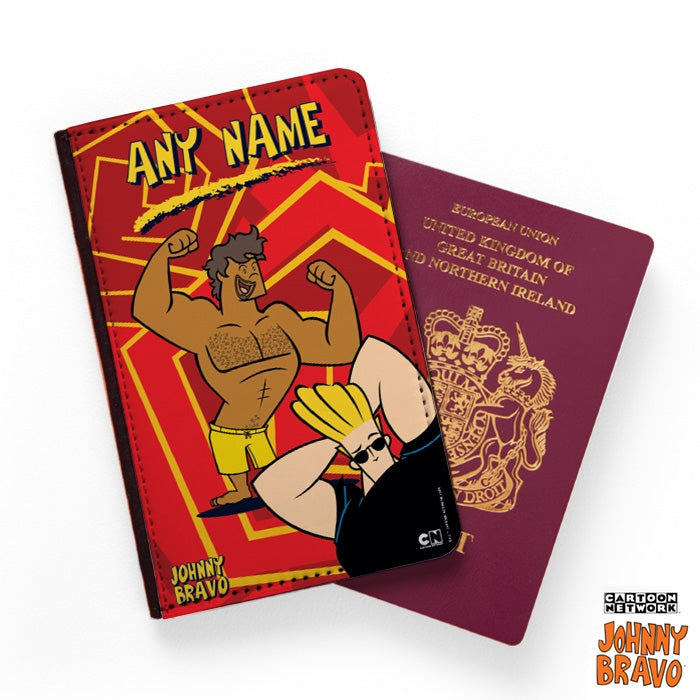Johnny Bravo Guys Zig Zag Print Passport Cover - Image 1