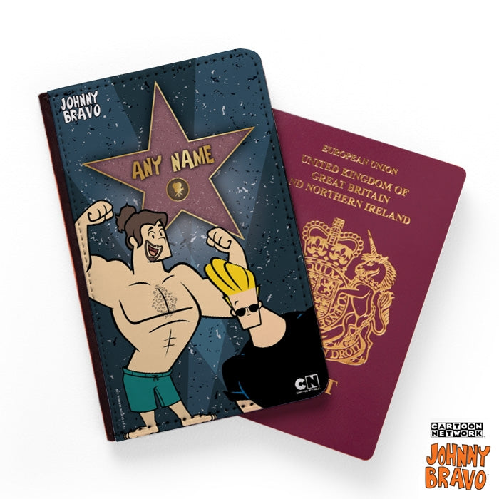Johnny Bravo Guys Walk Of Fame Passport Cover - Image 1