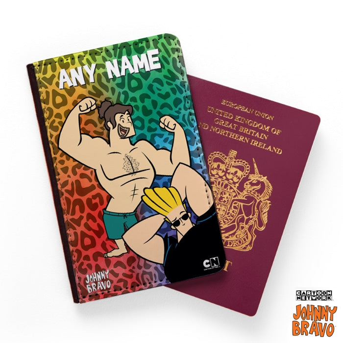 Johnny Bravo Guys Leopard Print Vibes Passport Cover - Image 1