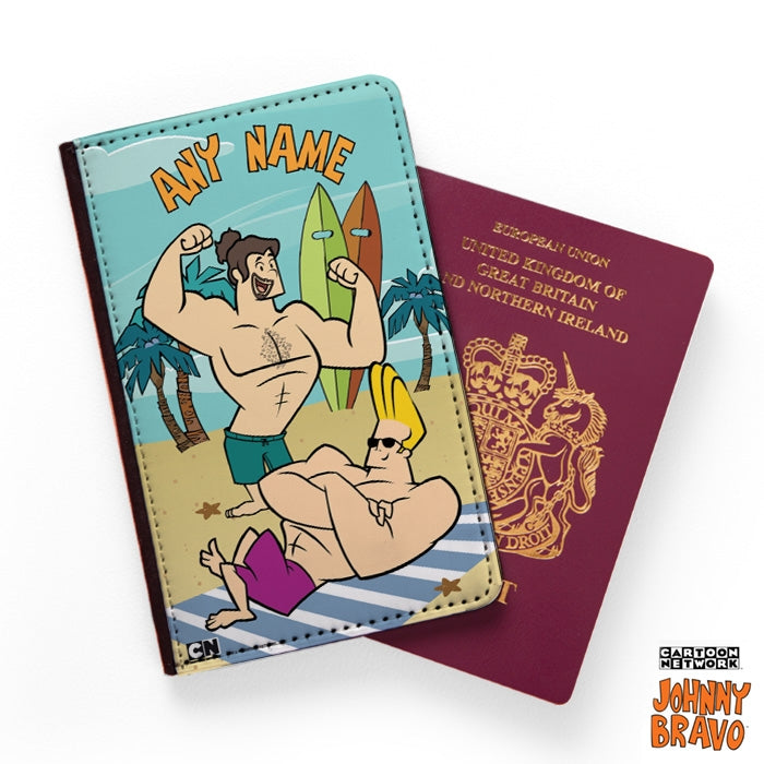 Johnny Bravo Guys Sunbathing Passport Cover - Image 1