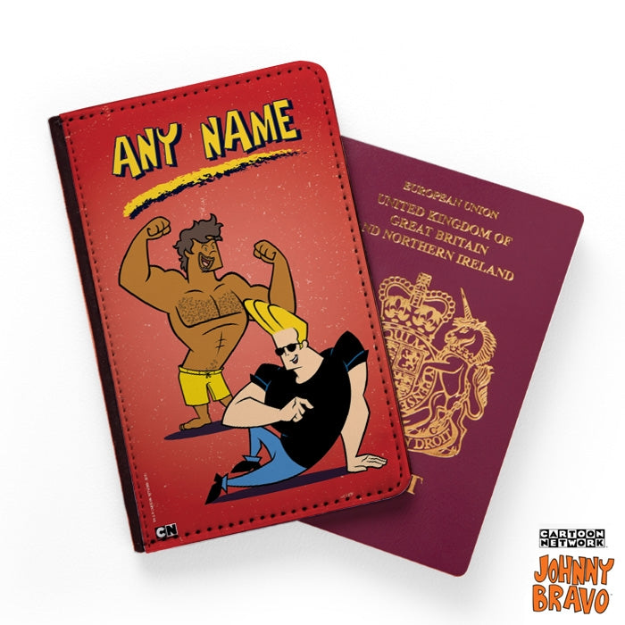 Johnny Bravo Guys Distressed Red Passport Cover - Image 1